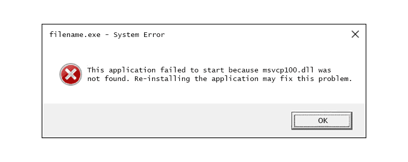 How to fix the MSVCP100.dll error?