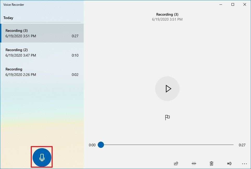 How to record sound using Voice Recorder app on Windows 10 - Recording sounds correct - Step by step on our site